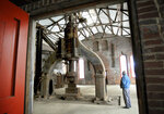 In this Jan. 5, 2018, photo, Tom Smith, of Johnstown, Pa., a former employee at the old Bethlehem Steel blacksmith shop, stands near the