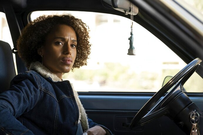 This image released by Hulu shows Kerry Washington in a scene from