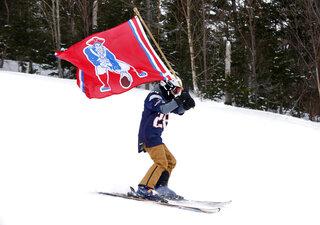 Super Bowl Skiing Patriots