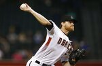 Arizona Diamondbacks starting pitcher Matt Koch throws against the Milwaukee Brewers during the first inning of a baseball game Wednesday, May 16, 2018, in Phoenix. (AP Photo/Ross D. Franklin)