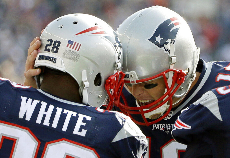 James White, Tom Brady