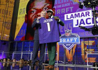 Roger Goodell, Lamar Jackson