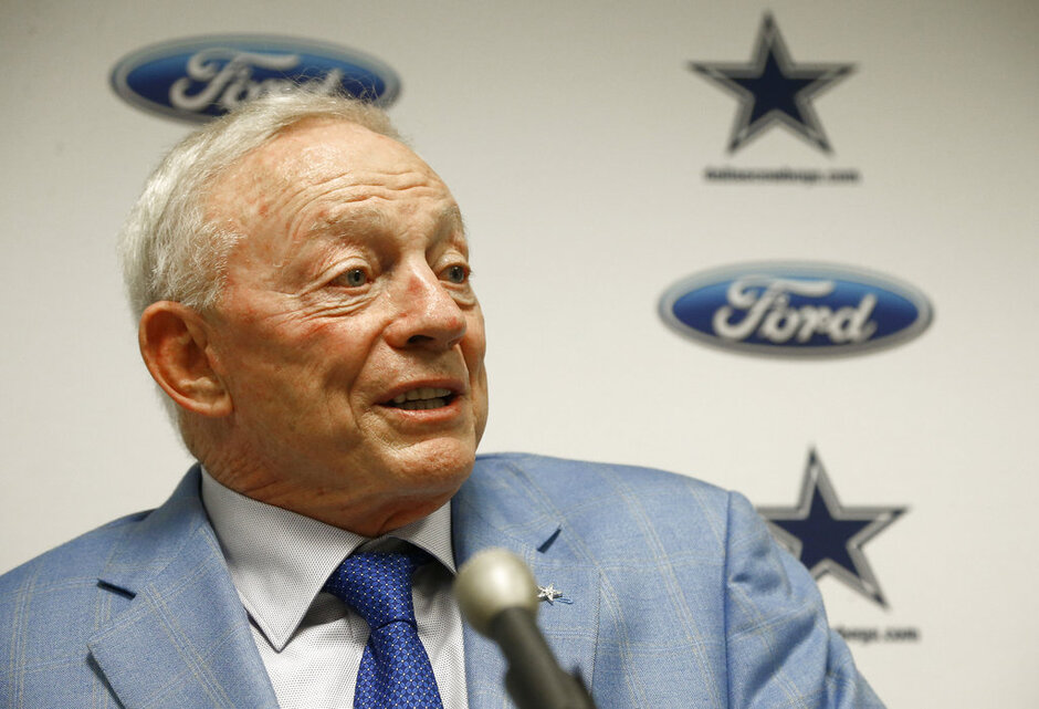 Jerry Jones Anthem Football