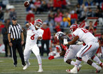 Fresno State quarterback Ben Wooldridge (6) throws during the first half of an NCAA college football game against New Mexico in Albuquerque, N.M., Saturday, Oct. 20, 2018. (AP Photo/Andres Leighton)