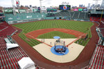Boston Red Sox baseball training camp continues at Fenway Park, Monday, July 6, 2020, in Boston. (AP Photo/Elise Amendola)
