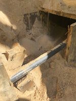 This photo provided by U.S. Immigration and Customs Enforcement shows a section of an incomplete tunnel intended for smuggling, found stretching from Arizona to Mexico. (Courtesy of ICE via AP)