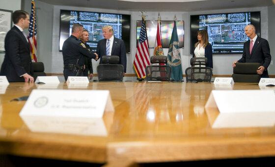 Donald Trump, Mike Leonard, Marco Rubio, Scott Israel, Melania Trump, Rick Scott