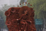 A performer dressed as a pre-columbian deity participates in the Day of the Dead parade in Mexico City, Saturday, Nov. 2, 2019. (AP Photo/Ginnette Riquelme)