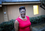 Keisha Waites, who is running for the chair of Fulton County, poses for a portrait before a candidate forum at the Cliftondale Community Club in College Park, Monday, Oct. 10, 2017, in Atlanta. (Branden Camp/Atlanta Journal-Constitution via AP)