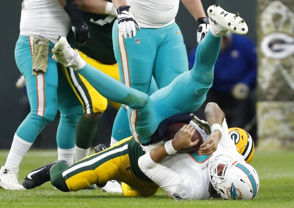 Injured Dolphins Football
