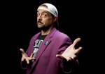 FILE - Kevin Smith poses during an interview to promote his film