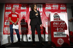 Democratic presidential candidate Sen. Kamala Harris, D-Calif., listens to a question at a town hall event at the Culinary Workers Union, Friday, Nov. 8, 2019, in Las Vegas. (AP Photo/John Locher)