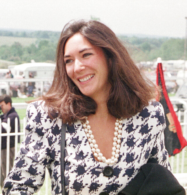 FILE - In this June 5, 1991 file photo, British socialite Ghislaine Maxwell arrives at Epsom Racecourse. Jeffrey Epstein's former girlfriend will face a judge and at least one of her accusers by video at a hearing to determine whether she stays behind bars until trial on charges she recruited girls for the financier to sexually abuse a quarter-century before he killed himself in a Manhattan jail. The hearing Tuesday, July 14, 2020, in Manhattan federal court was expected to feature a not guilty plea by Maxwell along with arguments over whether she'll flee if she's released. (Chris Ison/PA via AP, File)