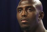 New England Patriots football free safety Devin McCourty listens to a question during a news conference, Wednesday, July 24, 2019, in advance of Thursday's opening of the Patriots NFL training camp. (AP Photo/Elise Amendola)