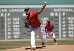 Boston Red Sox's Eduardo Rodriguez delivers a pitch against the Tampa Bay Rays in the first inning of a baseball game Sunday, June 9, 2019, in Boston. (AP Photo/Steven Senne)