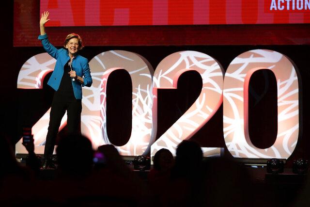 Democratic presidential candidate Sen. Elizabeth Warren, D-Mass., speaks at a