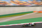 Mercedes driver Lewis Hamilton of Britain steers his car during the second practice session ahead of Sunday's Formula One Turkish Grand Prix at the Intercity Istanbul Park circuit in Istanbul, Turkey, Friday, Oct. 8, 2021.(AP Photo/Francisco Seco)