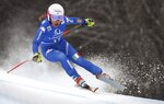 Italy's Nadia Fanchini speeds down the course during an alpine ski, women's World Cup downhill in Bad Kleinkirchheim, Austria, Sunday, Jan. 14, 2018. (AP Photo/Marco Trovati)