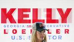 Sen. Kelly Loeffler, R-Ga., speaks during a news conference on Thursday, Oct. 15, 2020, in Dallas, Ga. (AP Photo/Brynn Anderson)