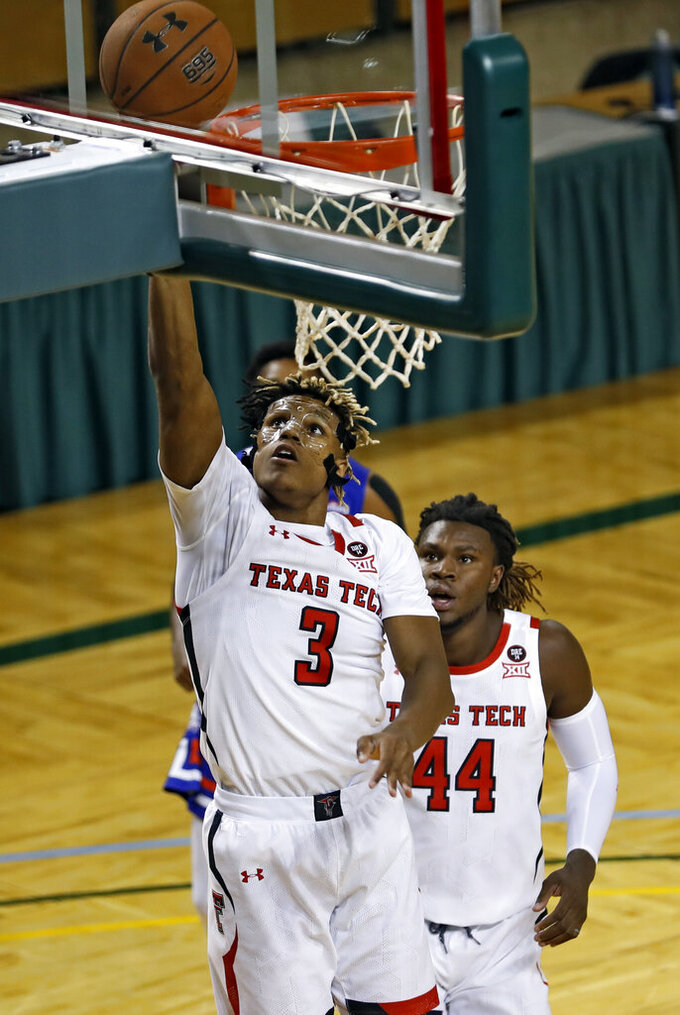 No. 11 Texas Tech rolls to 103-74 win over Houston Baptist