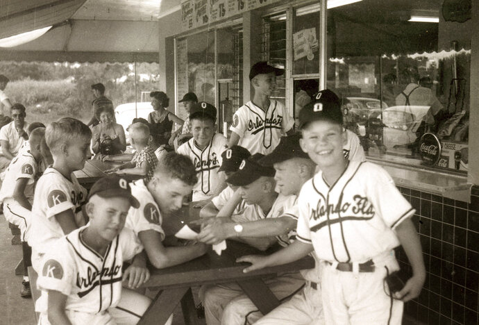 This image provided by Common Pictures shows the 1955 Orlando Kiwanis little league baseball team. In 1955, one of the most significant games in American history took place in Orlando, Fla, but hardly anyone knows about it. For the first time, an integrated Little League Baseball game, a group of white kids playing a team of African-American youngsters, was held in the Jim Crow South. The new documentary