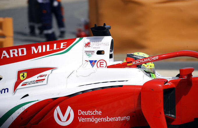 Mick Schumacher finishes 8th on F2 debut in Bahrain