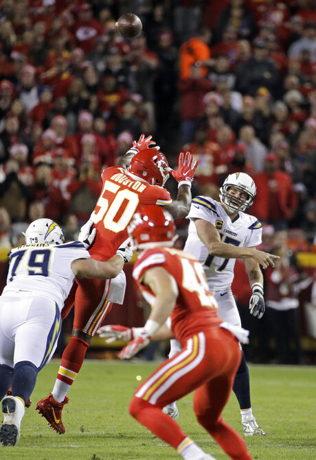 Justin Houston, Philip Rivers