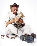 FILE - Wildlife advocate Jack Hanna poses for a portrait with a cheetah cub in New York on Oct. 12, 2015. The family of celebrity zookeeper and TV show host Jack Hanna said he's been diagnosed with dementia and will retire from public life. (Photo by Dan Hallman/Invision/AP, file)