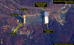 FILE - In this file image provided by Airbus Defence & Space and 38 North via a satellite image from CNES which was captured on March 6, 2019, shows the Sohae Satellite Launch Facility in Tongchang-ri, North Korea. North Korea must not use a possible rocket launch as leverage in negotiations with the U.S, a special South Korean presidential adviser said Tuesday, March 12, 2019, saying such a move could be