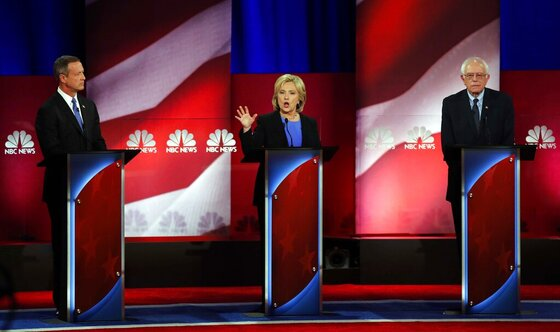 Hillary Clinton, Bernie Sanders, Martin O'Malley