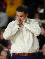 LSU head coach Will Wade paces on the sideline during the second half of an NCAA college basketball game against Georgia, Saturday, Feb. 16, 2019, in Athens, Ga. (AP Photo/John Bazemore)