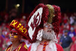 Fans are seen before the start of a preseason NFL football game between the Kansas City Chiefs and the Minnesota Vikings Friday, Aug. 27, 2021, in Kansas City, Mo. (AP Photo/Ed Zurga)