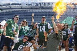 Jets fans tailgate at MetLife Stadium before an NFL football game between the New York Jets and the Buffalo Bills Sunday, Sept. 8, 2019, in East Rutherford, N.J. (AP Photo/Seth Wenig)