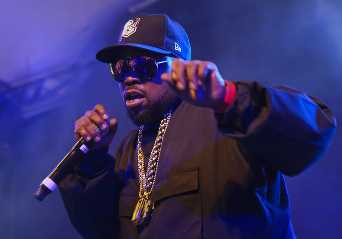 """FILE - In this March 15, 2016 file photo, Big Boi performs at the South by Southwest Interactive Festival in Austin, Texas. The rapper has already landed a recurring role on """"The Quad"""" and is in the process of filming his part for """"Super Fly,"""" a remake of the 1970s cult classic. On """"The Quad,"""" which airs Tuesday on BET at 10 p.m. EDT, Big Boi plays the opinionated father of a new top recruit. (Photo by Jack Plunkett/Invision/AP, File)"""
