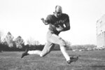 FILE - This 1953 file photo, shows Ohio State halfback Howard
