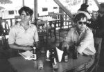 In this undated photo provided by Gert Kuiper, his brother, Jan Kuiper, right, sits with fellow journalist Koos Koster, two of the four journalists killed in El Salvador in 1982. Calls are mounting for Col. Mario Reyes Mena, a former Salvadoran army colonel, to be brought to justice for the killings. (Courtesy of Gert Kuiper via AP)