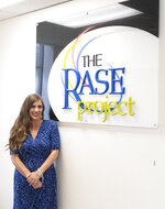 In this May 14, 2020 photo, RASE Project Director of Residential Services Chrystal McCorkel, an integral part in helping those in need, poses in their office in York, Pa. The RASE Project has three recovery homes inCarlisle, Harrisburg and Lancaster to help people on their journey. (Cameron Clark/York Daily Record via AP)