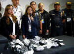 Bureau of Customs authorities  Atty Lourdes Mangaoang presents to the media 8 kilograms of the illegal drug methamphetamine hydrochloride locally known as