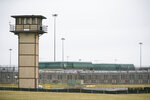 FILE - This Feb. 1, 2017, file photo shows the James T. Vaughn Correctional Center near Smyrna, Del. A riot at the prison resulted in the murder of Lt. Steven Floyd, injuries to Correctional Officers Winslow Smith and Joshua Wilkinson, and the kidnapping of counselor Patricia May. A jury on Thursday, May 23, 2019, acquitted an inmate accused of leading the riot at Delaware's maximum-security prison. (Suchat Pederson/The Wilmington News-Journal via AP, File)