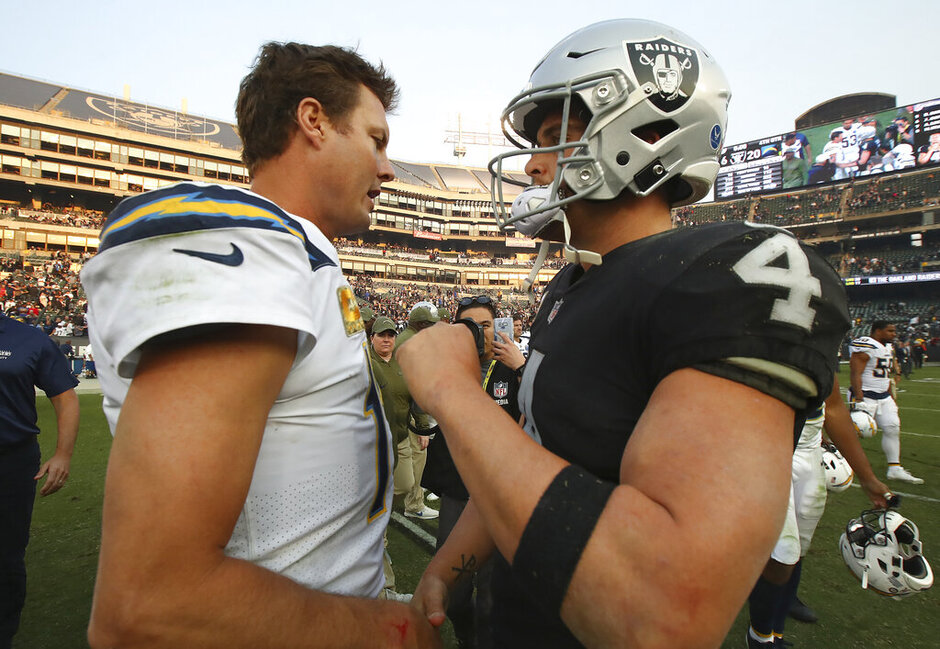 Chargers Raiders Football