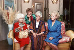 In this undated photo provided by ABC Studios, from left, Estelle Getty, Rue McClanahan, Bea Arthur and Betty White are seen in this undated publicity image from the TV series