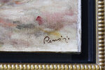 Renoir's signature is visible in the corner of his painting