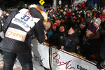 Joar Ulsom of Norway thanks fans after winning the Iditarod sled dog race in Nome, Alaska, Wednesday, March 14, 2018. (AP Photo/Diana Haecker)