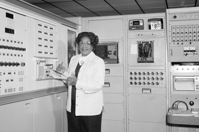 This 1977 photo made available by NASA shows engineer Mary W. Jackson at NASA's Langley Research Center in Hampton, Va. On Wednesday, June 24, 2020, NASA Administrator Jim Bridenstine announced the agency's headquarters building in Washington, D.C., will be named after Jackson, the first African American female engineer at the space agency. (Robert Nye/NASA via AP)