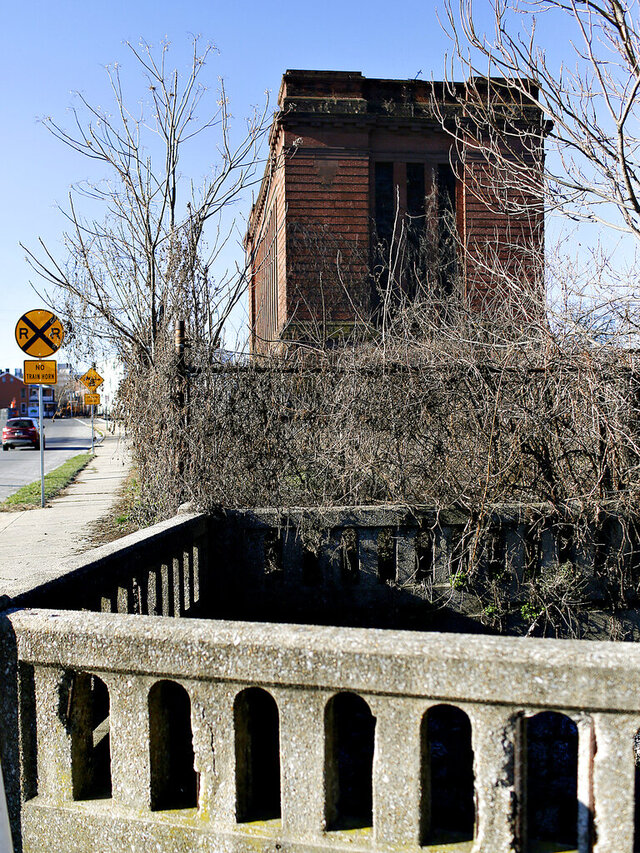 This Jan. 6, 2016, photo shows the former York County Prison, back. The beaten body of George Costella Sr. was found May 31, 1990, in Poor House Run, located next to the old York County Prison on Chestnut Street. The homicide remains unsolved, but his siblings still hope an arrest will be made. Thirty years ago, Costella's loved ones lost the family man and gifted artist to an act of violence in York City that police have been unable to solve. (Dawn J. Sagert/York Dispatch via AP)