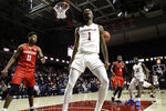 Temple's Quinton Rose celebrates after a dunk during the second half of an NCAA college basketball game against Houston, Wednesday, Jan. 9, 2019, in Philadelphia. Temple won 73-69. (AP Photo/Matt Slocum)