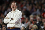 LSU coach Will Wade reacts  during an NCAA college basketball game against Georgia in Athens, Ga., Saturday, Feb. 16, 2019. (Joshua L. Jones/Athens Banner-Herald via AP)