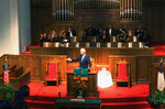 FILE - In this Sunday, Sept. 15, 2019, file photo, former vice president and Democratic presidential candidate Joe Biden attends a service at 16th Street Baptist Church in Birmingham, Ala. Visiting the black church bombed by the Ku Klux Klan in the civil rights era, Democratic presidential candidate Biden said Sunday the country hasn't