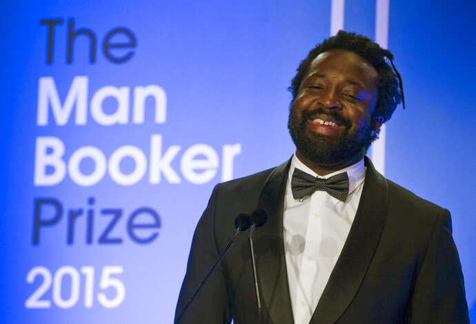 FILE - In this Oct. 13, 2015 file photo, Marlon James, author of