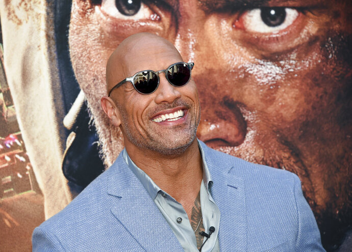 Actor Dwayne Johnson attends the